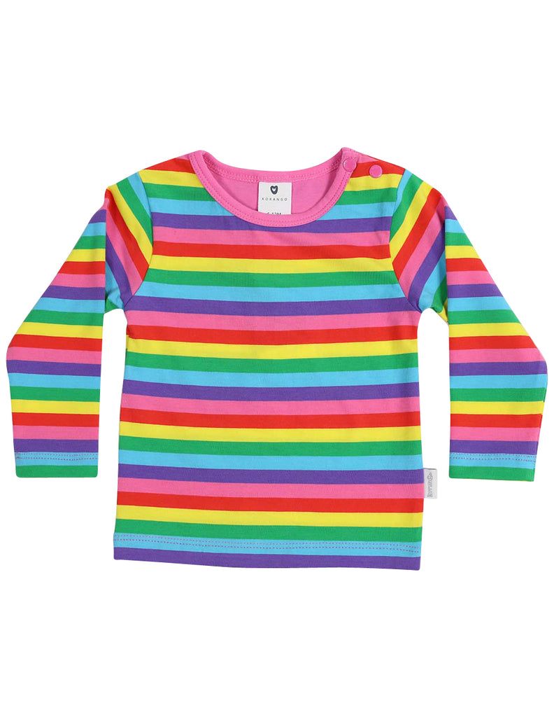 Korango Standing Out From the Crowd LS Tee - Rainbow Stripe