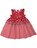 Korango Party Dress in Red Floral Border Print (Size 0-8)