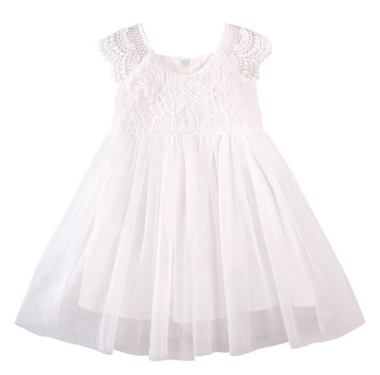Designer Kidz Angelique Butterfly Bodice Dress Ivory