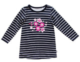 Curiosity Stripe & Print Dress - Navy - Sweet Thing Baby & Childrens Wear