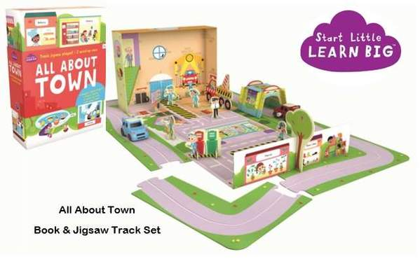 All About Town Book & Jigsaw Track Set