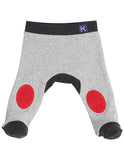 Korango Little Tiger Legging with Knee Patch - Red/Grey Marle