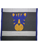 Korango Little Tiger Knit Blanket - Blue