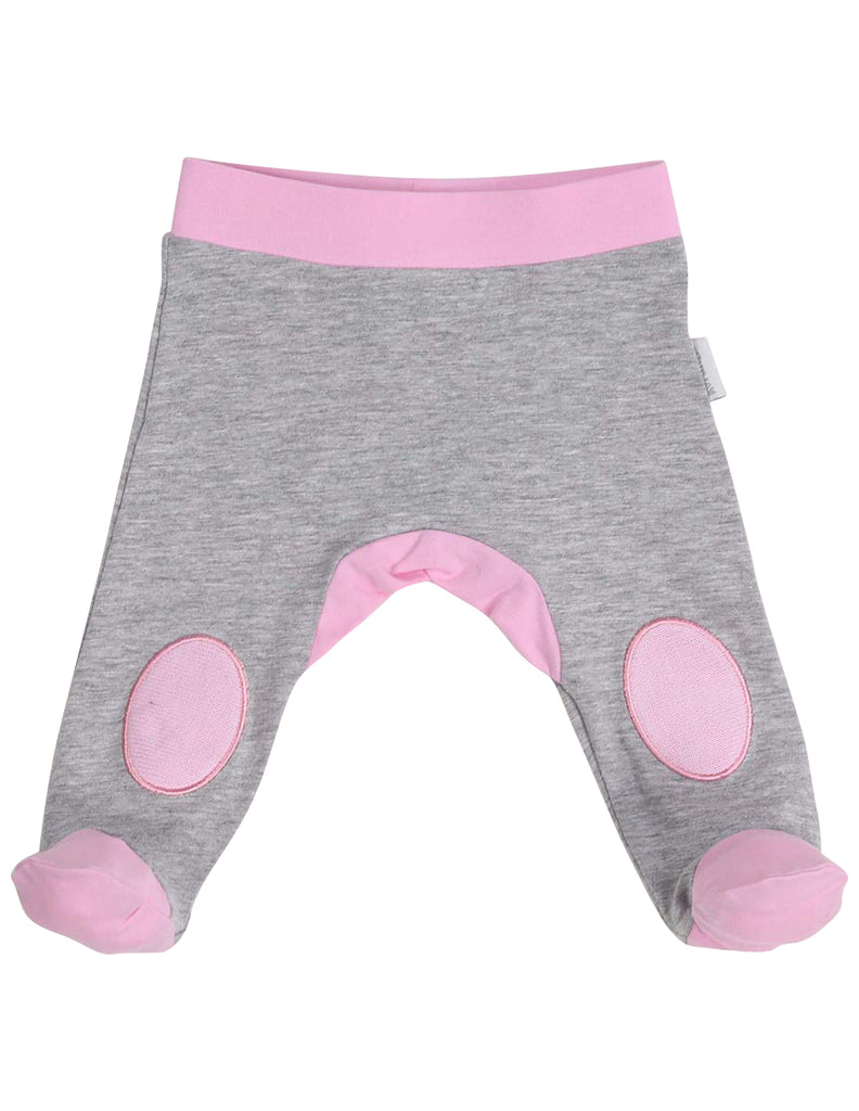 Korango Swan Princess Legging with Knee Patch - Grey Marle/Pink