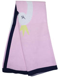 Korango Swan Princess Knit Blanket - Pink/Navy