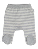 Korango Baa Baa White Sheep Stripe Knit Legging - Cream/Grey Stripe