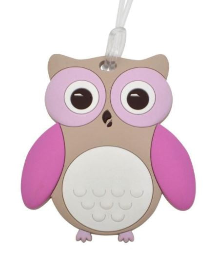 Bobble Art Baggage Tag - Owl
