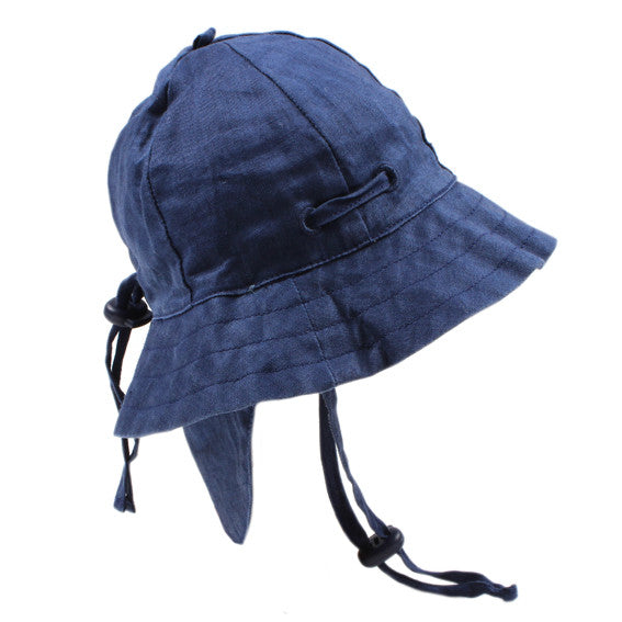 Bebe Prince Navy Linen Baby Sunhat YS15-940 - Sweet Thing Baby & Childrens Wear