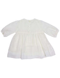 Korango Timeless Hand Smocked/Embroidered Cotton Voile Dress - Ivory