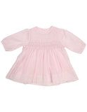 Korango Timeless Hand Smocked/Embroidered Cotton Voile Dress - Pink