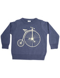 Korango Vamos Vintage Boys Knit Sweater with Print - Steel