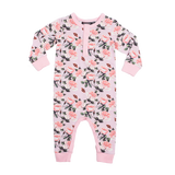 Rock Your Baby Shabby Chic L/S Playsuit - Pale Pink