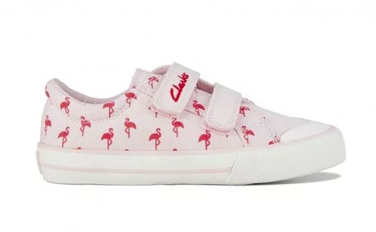 Clarks Daylight - Pink Flamingos E