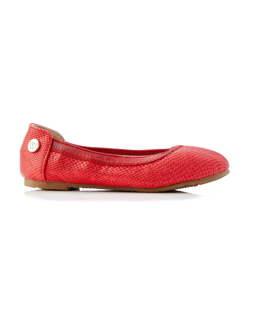 Walnut Catie Snake Ballet in Red