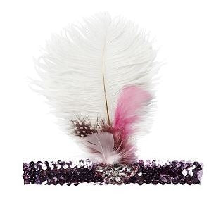 Tutu du Monde Charmer Feather headband- Dahlia - Sweet Thing Baby & Childrens Wear