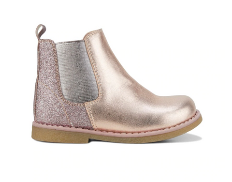 Clarks DISCO Rose Gold Glitter