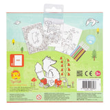 Tiger Tribe Woodland Friends Colouring Set