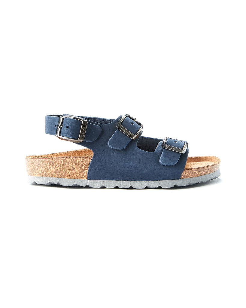 Walnut Congo Sandalia in Navy & Grey