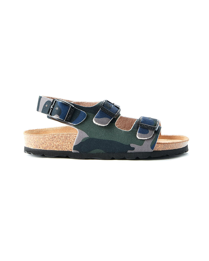 Walnut Congo Sandalia in Blue Green Camo