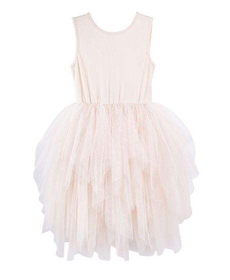 Designer Kidz Melody Tulle Dress in Beige