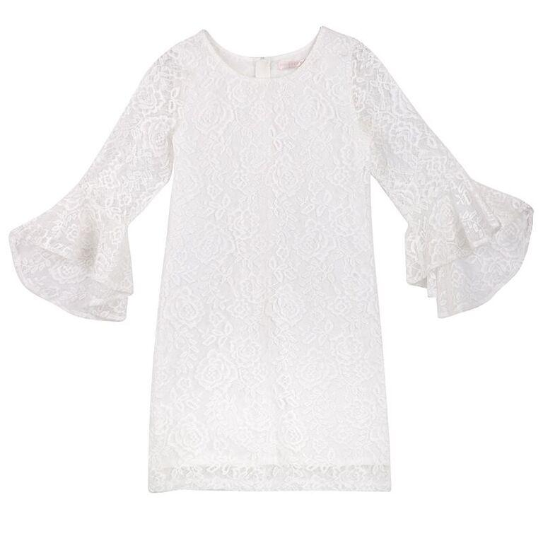 Designer Kidz Riley Rose Lace Dress - Ivory