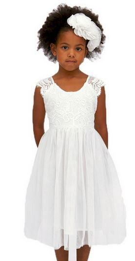 Designer Kidz Angelique Butterfly Bodice Dress Ivory - Sweet Thing Baby & Childrens Wear