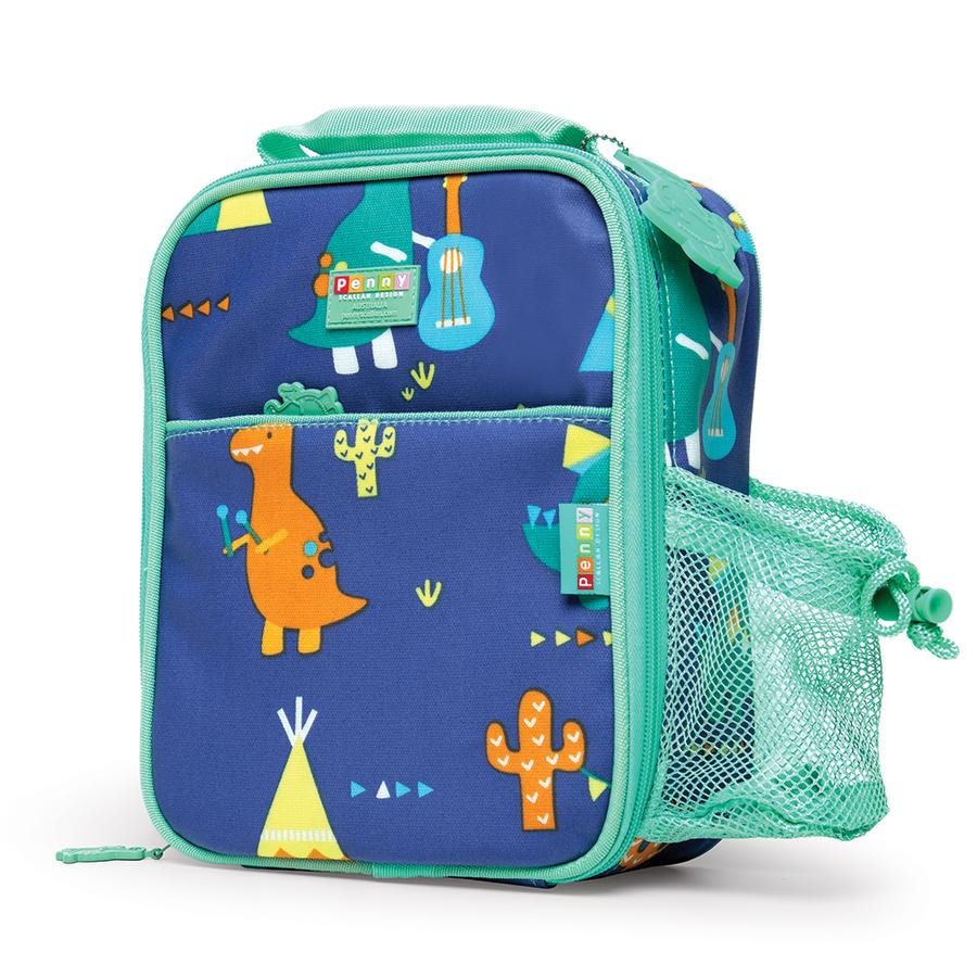 Penny Scallan Bento Cooler Bag with Pocket - Dino Rock