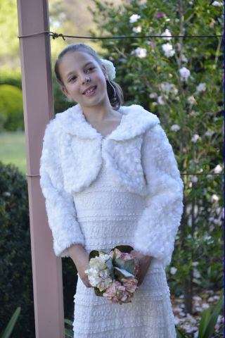 Vintagespired Long Sleeve Fur Jacket - Sweet Thing Baby & Childrens Wear