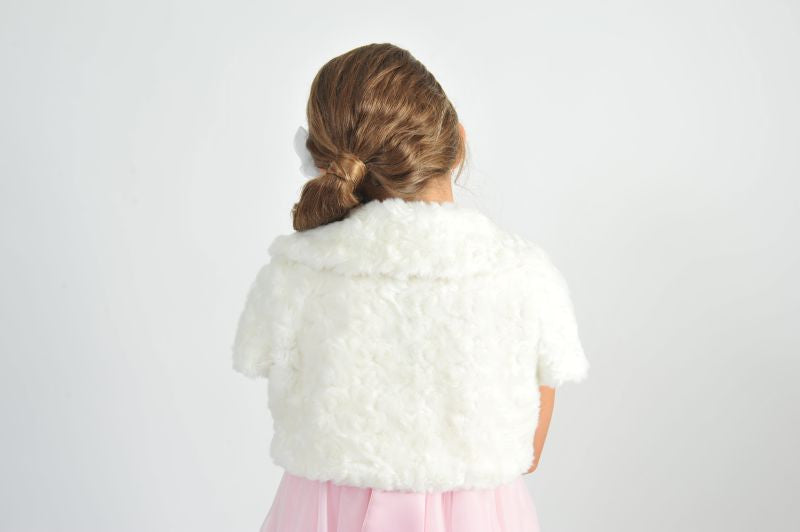 Vintagespired Fur Bolero - Sweet Thing Baby & Childrens Wear