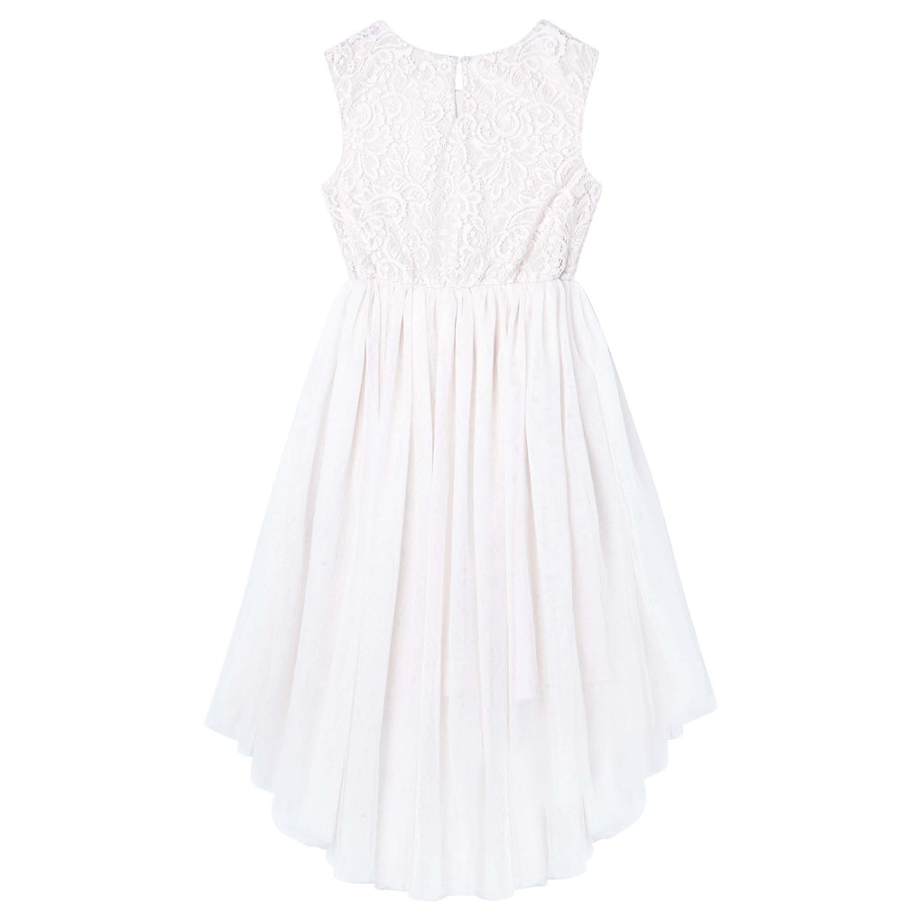Designer Kidz Delilah Lace Dress - Ivory (Size 8-16)