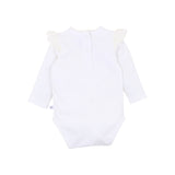 Fox & Finch Netting Ruffle Bodysuit in Cloud (Size 3M-2Y)
