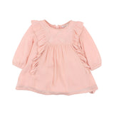 Fox & Finch Fancy Crepe Dress - Dusty Pink (Size 3M-5Y)
