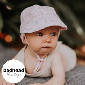 Bedhead Baby Flap Hat with Strap - Charlotte
