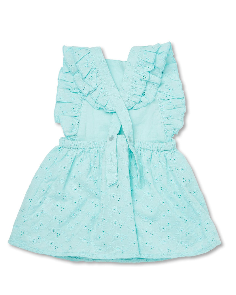 Walnut Helena Patch Dress in Aqua