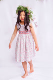 Jacaranda Kids- Cindy Lace Neck & Smocked Summer Dress