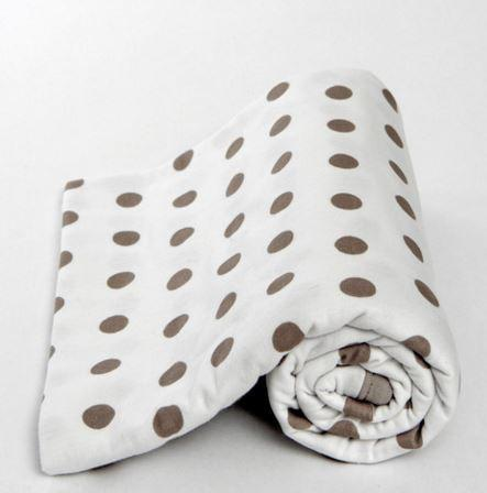 Lil Fraser Baby Wraps- Jamie White/Beige Dots - Sweet Thing Baby & Childrens Wear