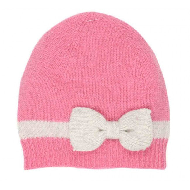 Bebe Pink Beanie w/ Knit Bow - Sweet Thing Baby & Childrens Wear
