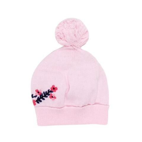 Bebe Harlow Beanie with Embroidery - Harlow Pink