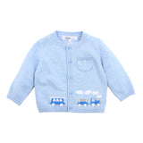 Bebe Louis Train Cardigan in Pale Blue