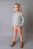 Love Henry Girls Jean with Pintuck Detail - Pink
