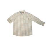 Love Henry Boys Dress Shirt - Blue & Tan Check