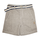 Love Henry Boys Tailored Shorts - Brown Herringbone