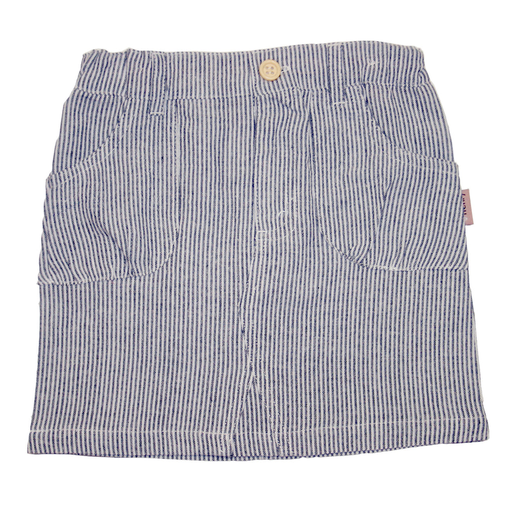 Love Henry Girl Curved Pocket Mini Skirt - Stripe