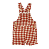 Love Henry Baby Boys Roy Dungaree - Red Gingham (Size NB-2)