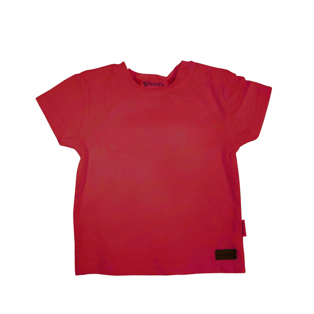 Love Henry Baby Boys Plain Tee - Red (Size NB-2)