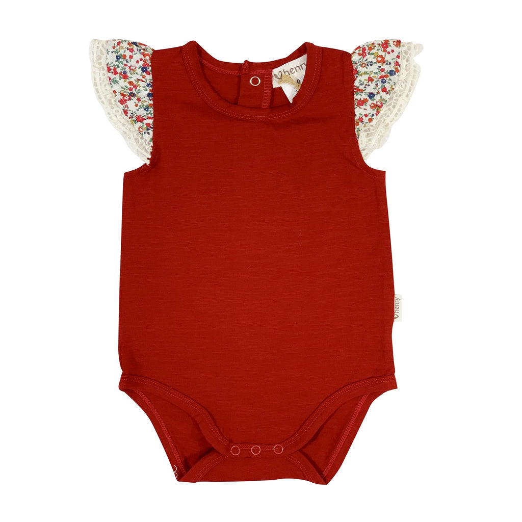 Love Henry Baby Girls Knit Romper - Red (Size NB-2)