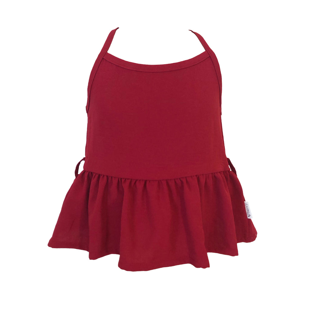 Love Henry Girls Racer Back Floaty Top - Red (Size 3-12)