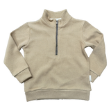 Love Henry Boys Zip Front Jumper - Tan