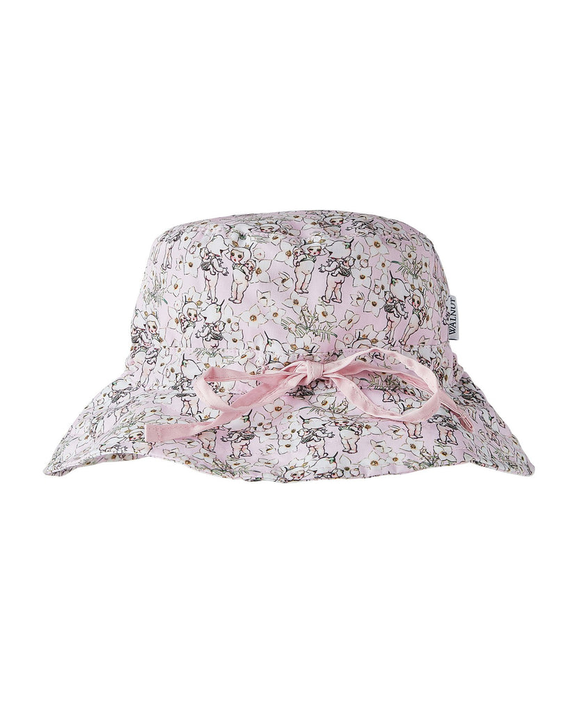 Walnut + May Gibbs Sunny Sunhat - Spring Floral (Size 2y - 8y)