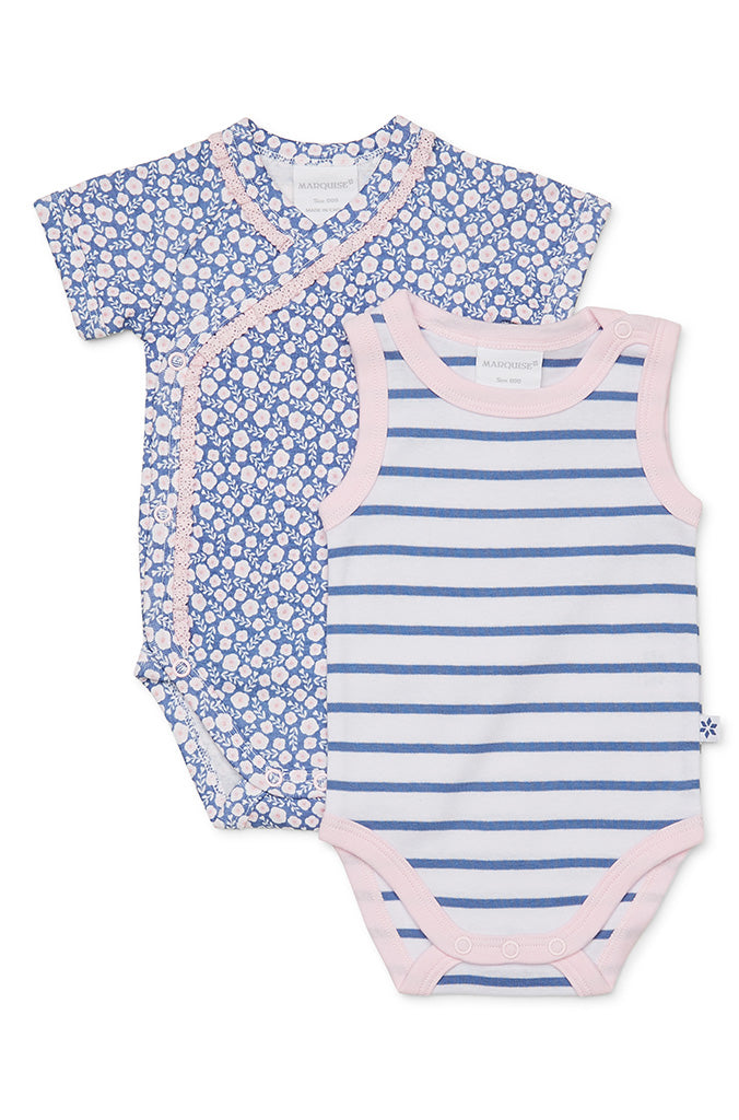 Marquise Girls Blossom 2 Pack Bodysuits